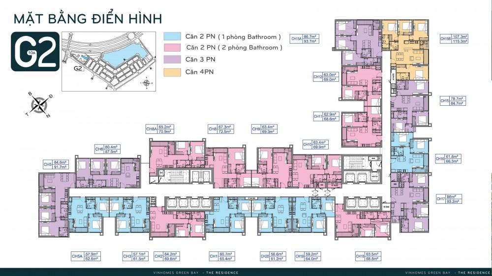 Mặt bằng tòa G2 <a href='http://bds-hn.com/chung-cu-vinhomes-green-bay-me-tri-sp21.html'>Vinhomes Green Bay</a>